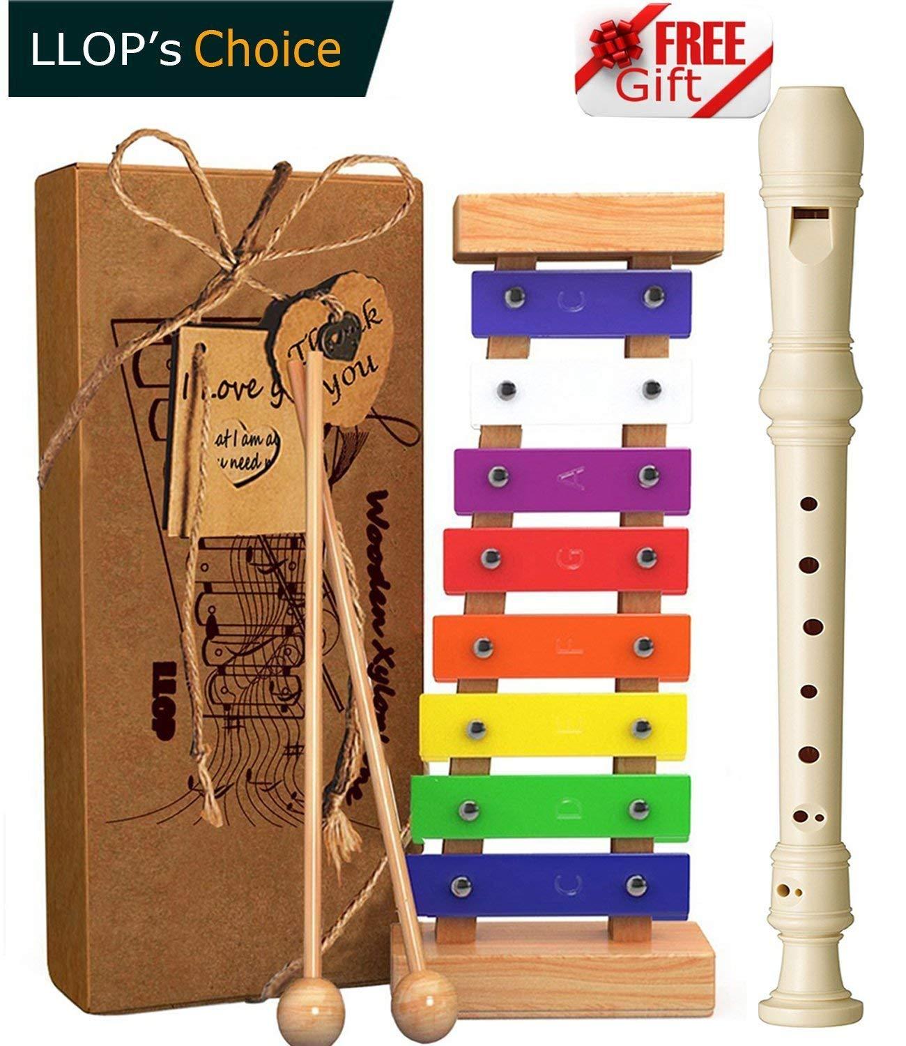 Get Quotations LLOP PREMIUM QUALITY Xylophone For Kids Best Holiday Birthday DIY Gift Idea