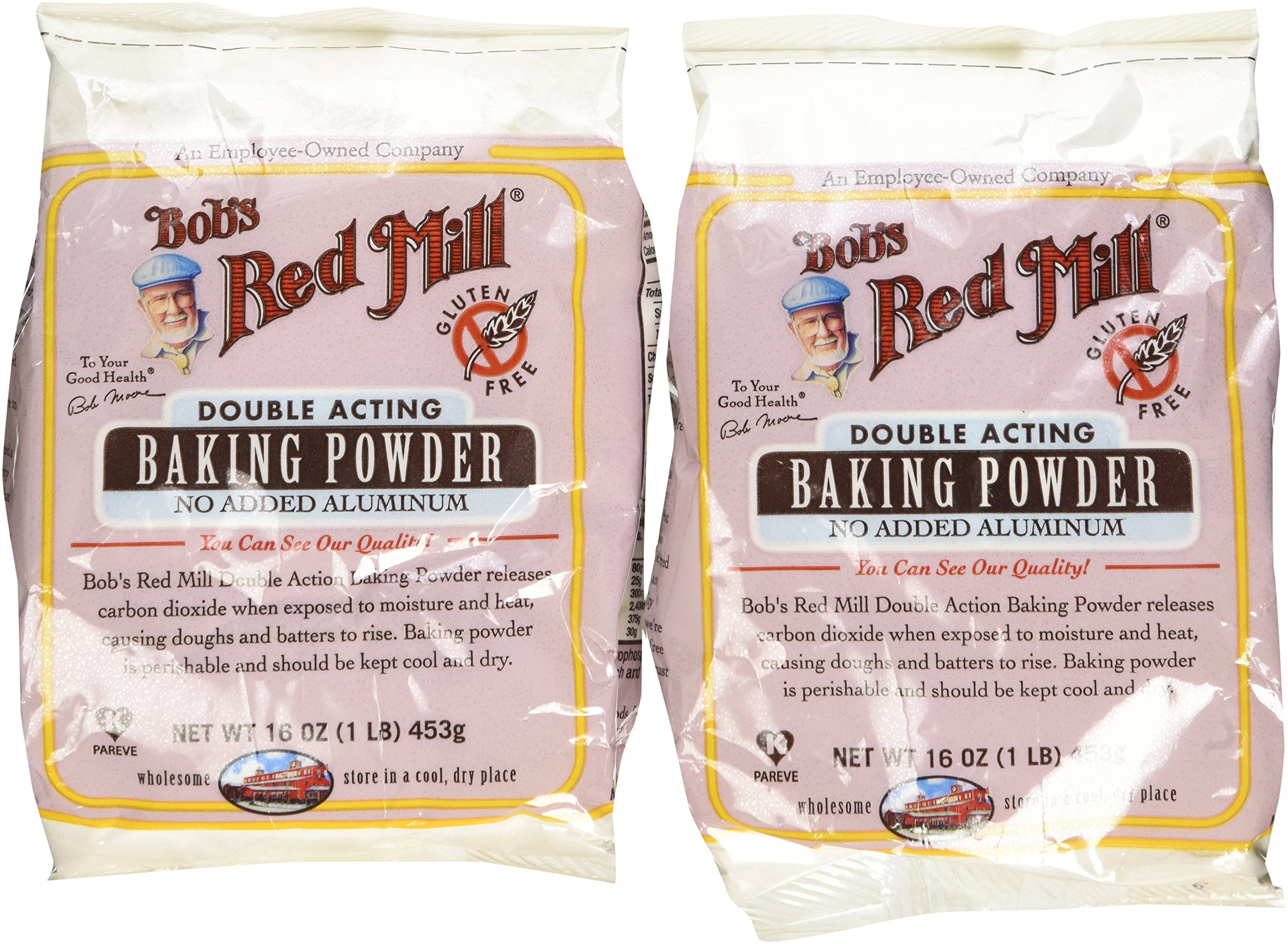 Bob's Red Mill - Baking Powder Double Aluminum Free Acting Gluten Free - 16 oz. (Pack of 2)