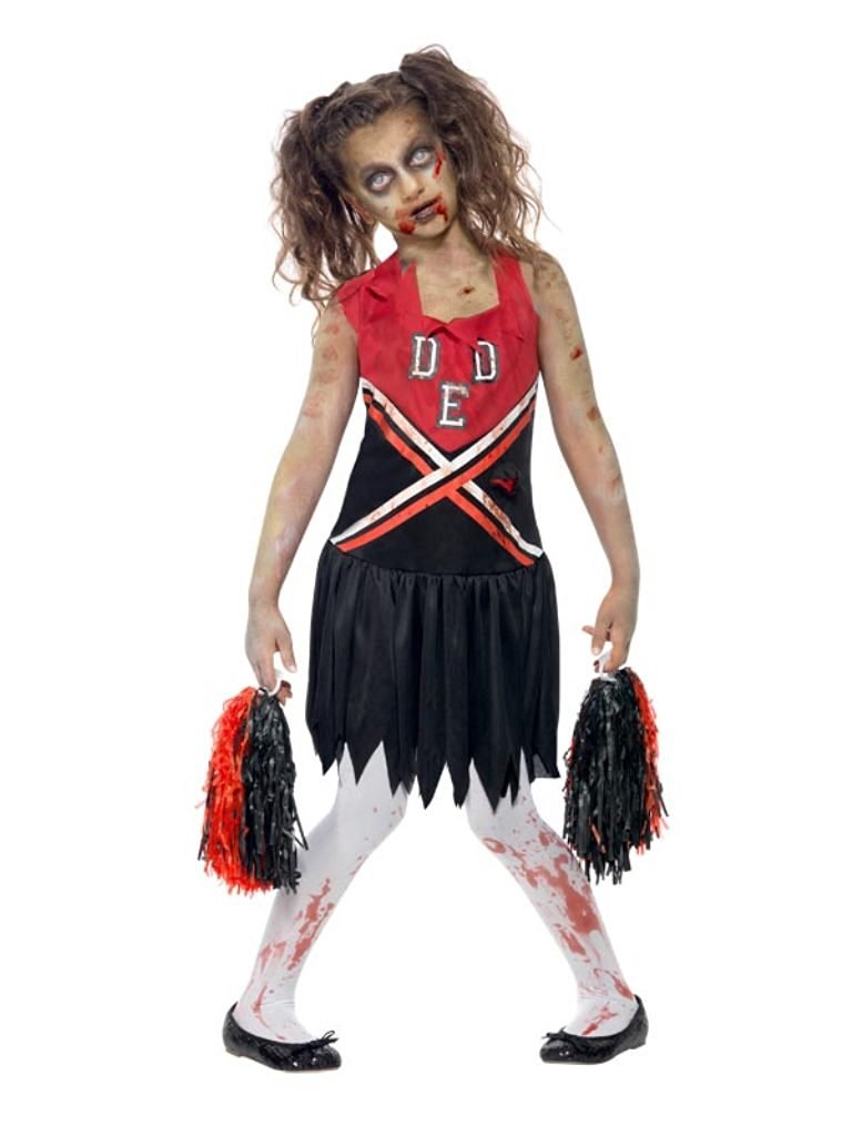 4f1414132 Get Quotations · Smiffys Children s Zombie Cheerleader Costume