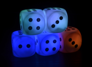 Hot Sale Custom Colorful PVC LED Flashing Dice