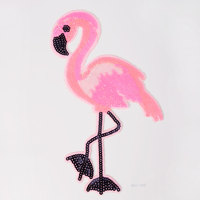 Sequins Color Red-crowned Crane Bird Appliques Cloth Patch DIY Garment Accessory