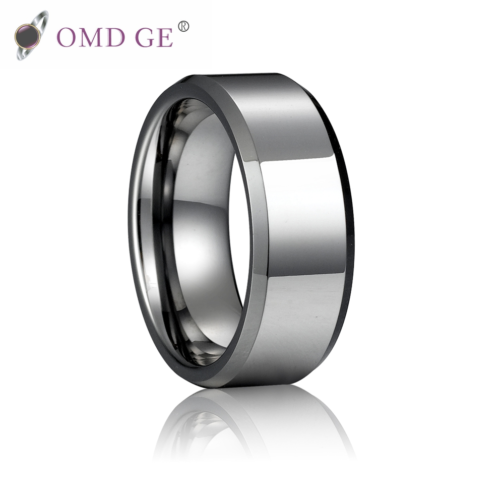 Black tungsten carbide trouwringen groothandel geborsteld tungsten mens ring