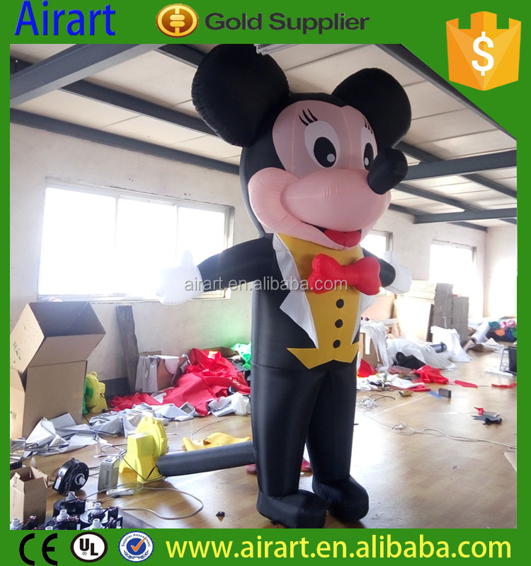 Hot inflatable mickey mouse, inflatable cartoon characters