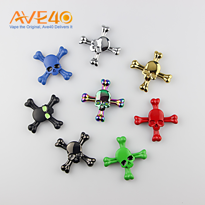 chinese supplier multicolor skull design metal ETN-X01 finger spinner with factory price