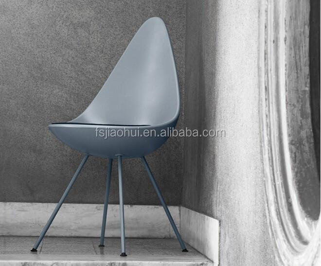 Fiberglass Furniture Danish Design Dining Chair Classic Drop Chair For Sale