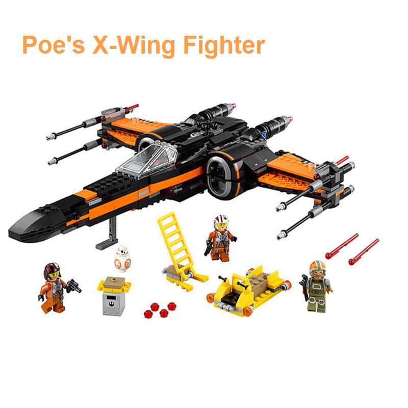 Lego Star Wars Poe's X Wing Fighter 75102 Figures Model Set Bricks Toys Children Gift