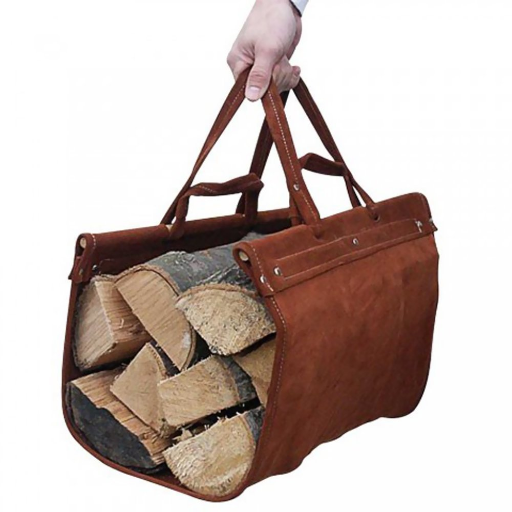 Oem Whole Premium Firewood Carrying Bag Leather Log Carrier