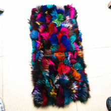 2017/2018 Wholesale Dyed Colorful Fox Scraps Fur Skins Plate for Jacket&Parka Inner Linned&Garment with Factory Price