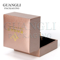 Packaging box for ring velvet insert customized handmade jewellery box