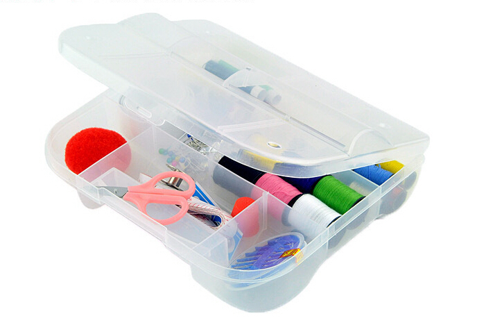 Free shipping Portable mini travel sewing box kit with color needle threads/ sewing kits/sewing set for DIY handwork tools