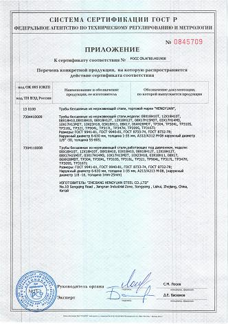 GOST R Certificate