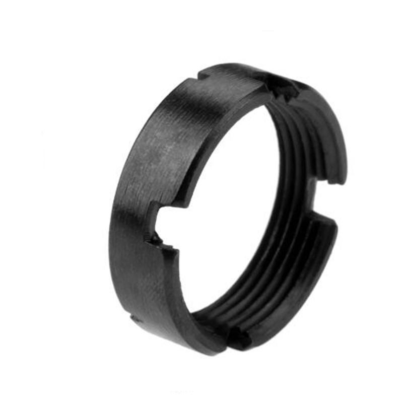 M4/AR15 Receiver Extension Nut Buffer Tube Castle Latching Nut For ar-15 stock, Black