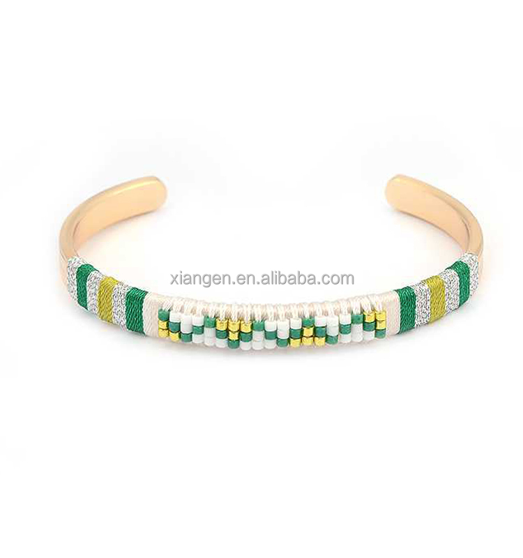 handcraft bracelet,cheap diy miyuki seed beads rope bracelet jewelry