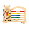 Newest Design Wooden Montessori Toy Math Material Early Educational Learning Abacus Clock Calculation Children Toys WD41