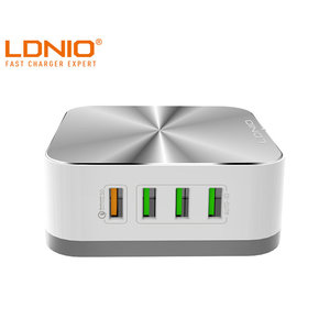LDNIO A8101 Universal 8 USB Ports Wall Home Travel Charger QC3.0 AC Adapter Desktop with Extension Line Cable UK/US/AU/EU Plug