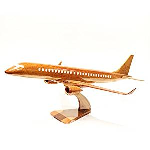 Boeing Mitsubishi airplane Wooden Model (big), the Model Plane Includes Desk Stand