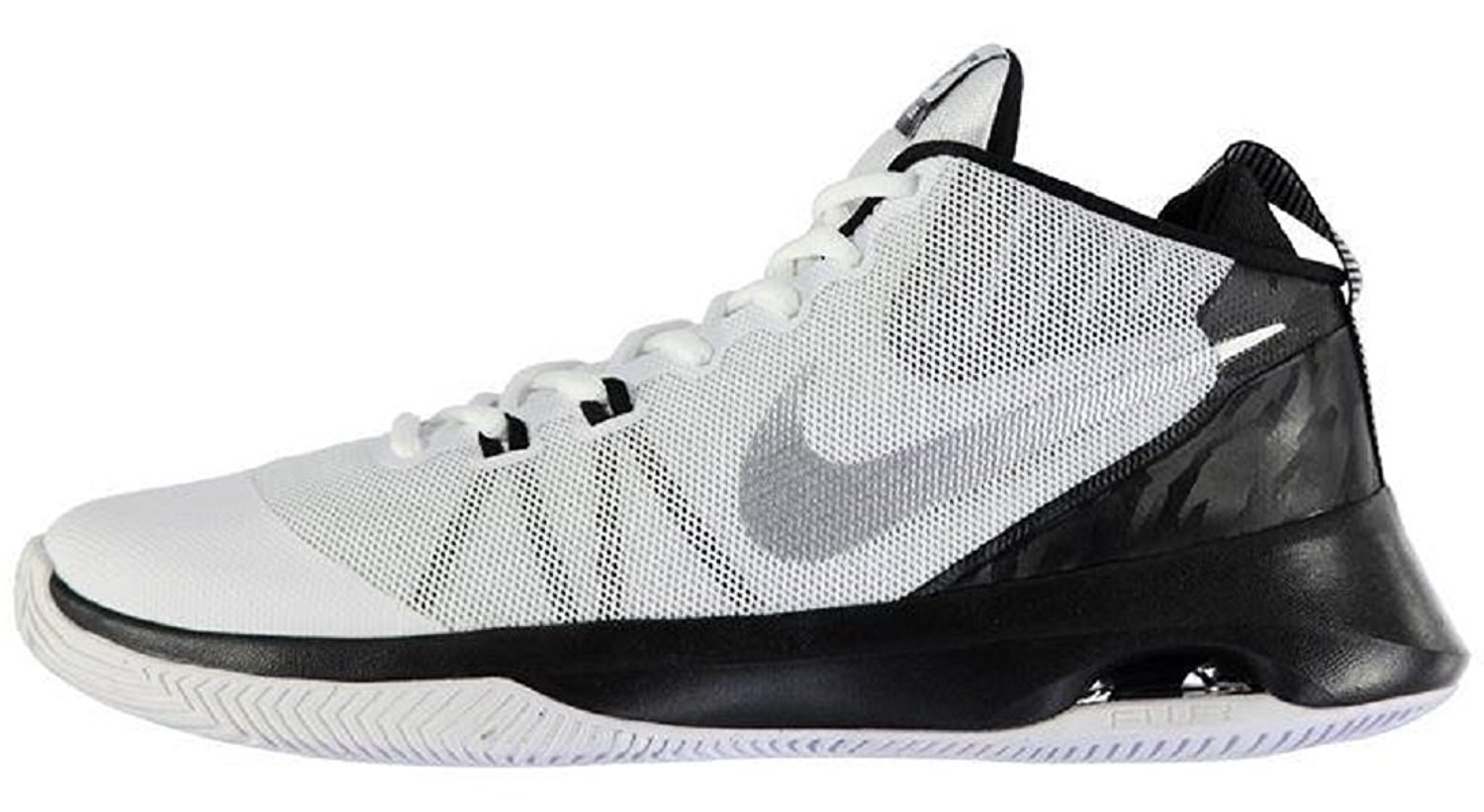 18c05bf8d62 Mens Nike Performance Air Versitile Basketball Trainers Shoes White Black