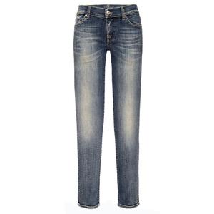 High Fashion 100% Cotton Long Denim Jeans Pants for Women 2018 Summer