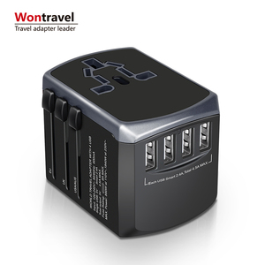 New Arrival Universal Travel Adapter 4usb 4.5A Wall Charger Power Adaptor Socket Outlet Plug Business Gift Compact Fast Charge