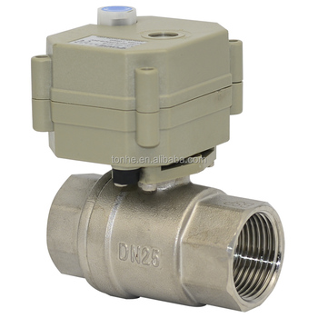 2 way 1'' stainless steel 304 motorized ball valve approved NSF61
