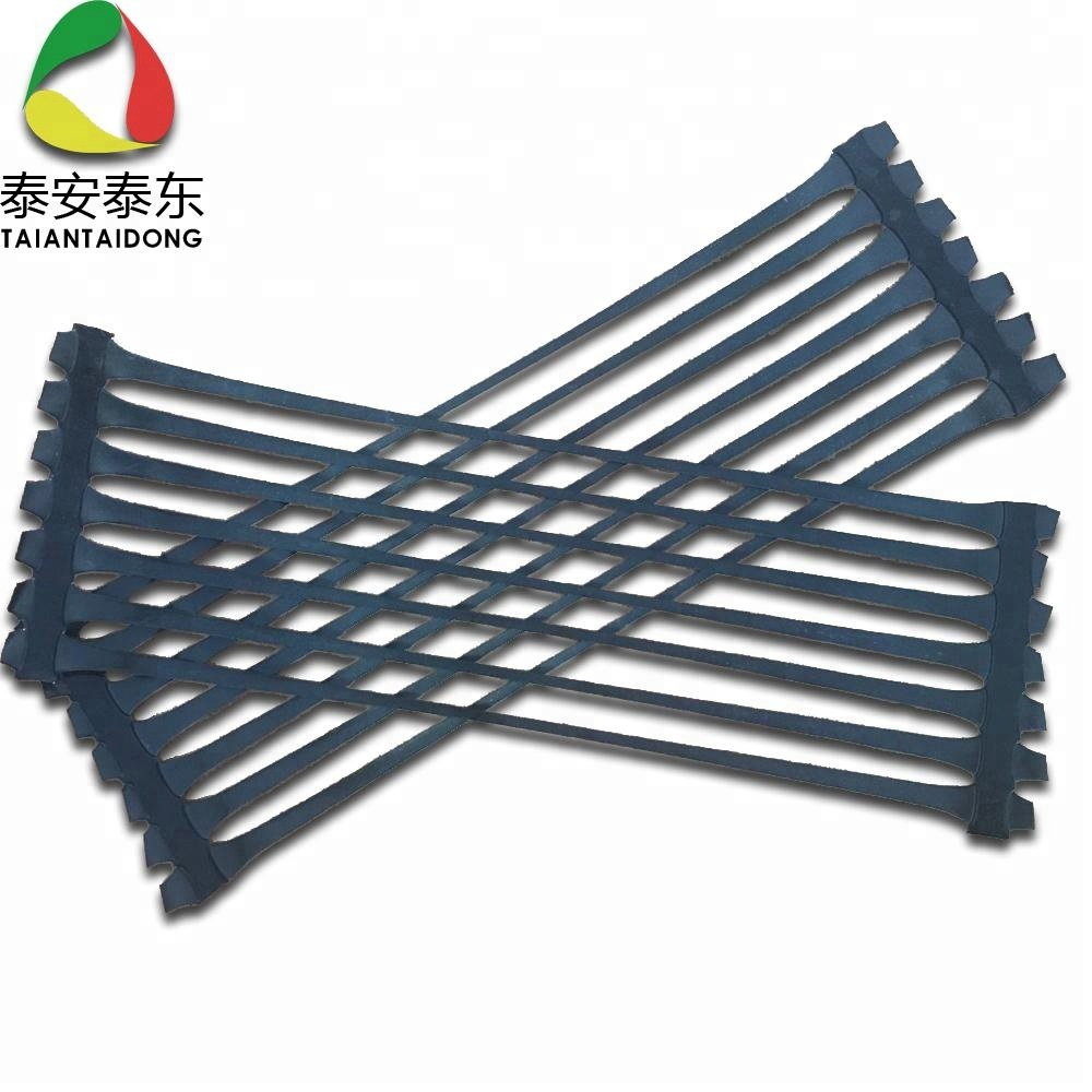 Road Base Material Pp Uniaxial Plastic Geogrid