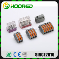 PCT-212 spring lever push fit reusable cable 2 wire connector 32A 2 pin Conductor Terminal, wire crimping pin terminals