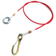 GuoFeng Tow Galvanized Red PVC Steel Wire Rope With Yellow Zinc alloy Snap Hook