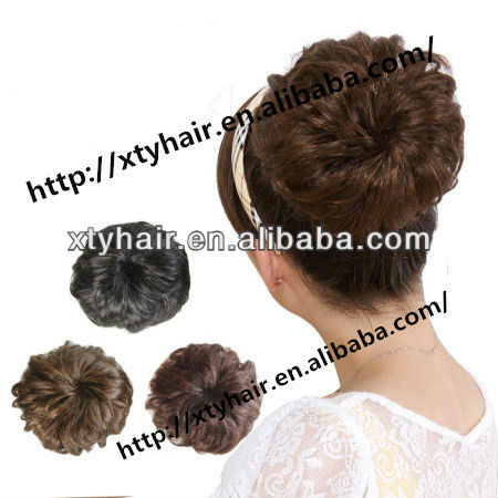 alibaba express hair accessories bun synthetic chignon cheap goods from china