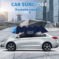Custom logo printing car umbrella with battery automatic electric car cover