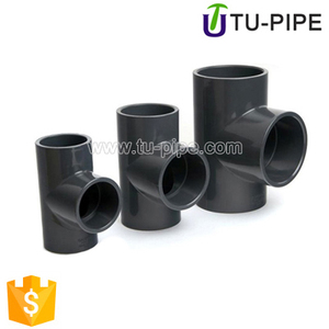 Industrial fittings UPVC Tee ASTM Sch80 for water supply