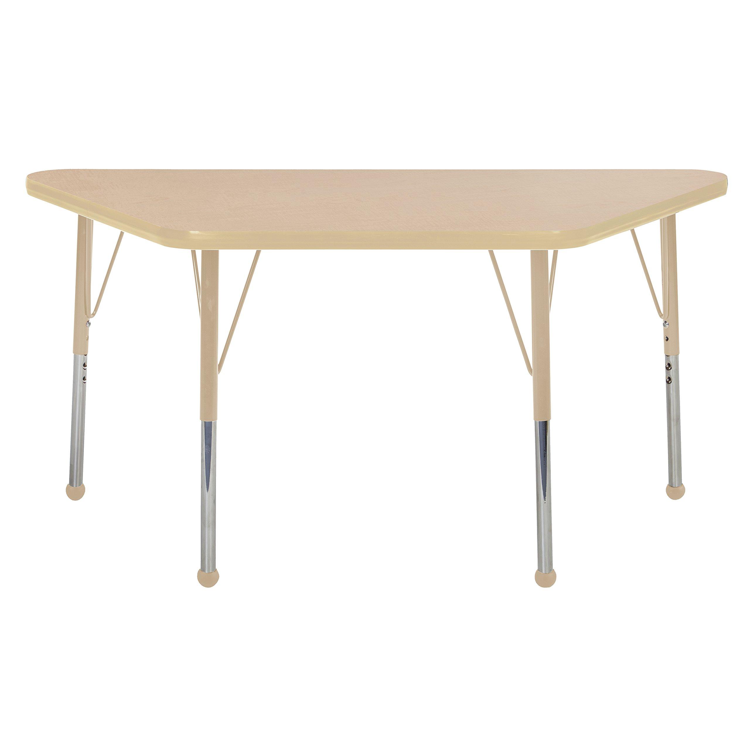 Adjustable Height 19-30 inch Maple//Navy//Sand ECR4Kids Mesa Premium 30 x 48 Rectangular School Activity Table Standard Legs w//Ball Glides
