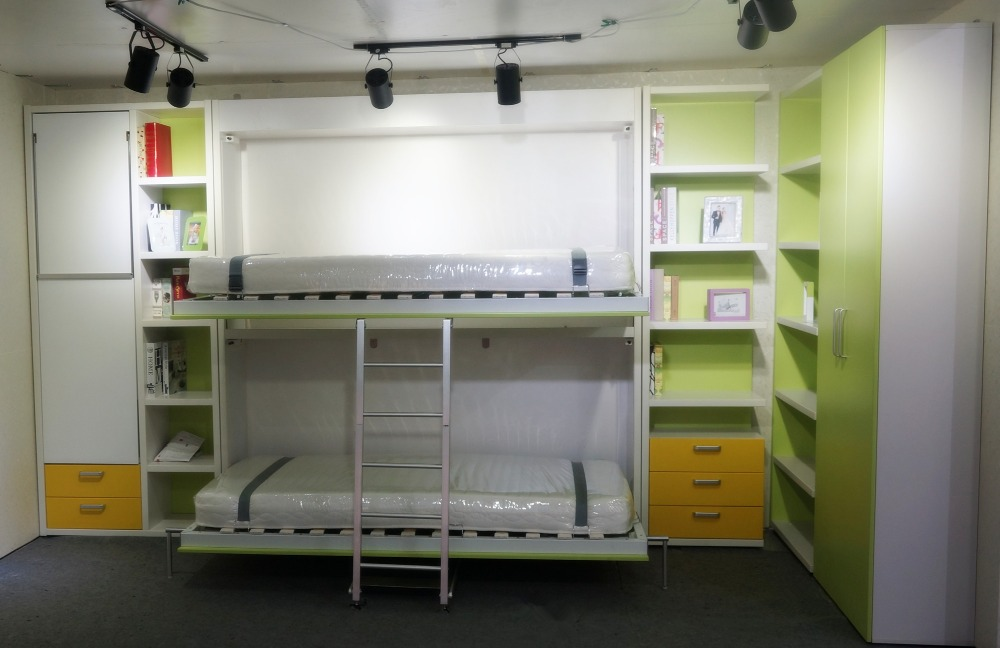 Elegant Murphy Bed Folding Wall Bed,wall Mounted Bed Children Bunk Bed Design,hidden  Bunk