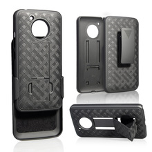Belt Clip Holster Mobile Phone PC Case for MOTO E4 Accessories Cover with Stand