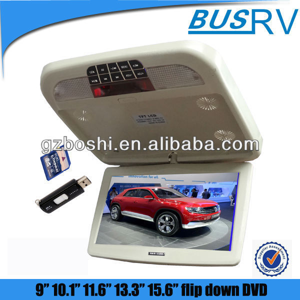 10 inch cars super thin dvd player with USB/SD/ MP5/ DVD