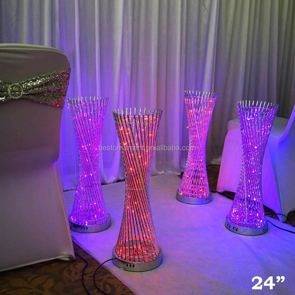 24 Tall Led Lights Spiral Tower Centerpiece For Wedding Party