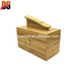Customized Giant Bamboo Vintage Wooden Shoe Shine Box