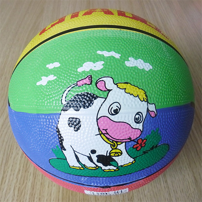 colorful size 3 rubber basketball for kids