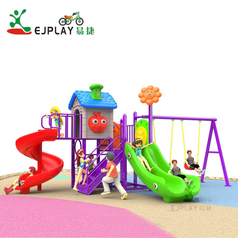 Funny Amusement Park Equipment Kids Plastic Play House Children Playground Outdoor