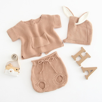 Cheap Baby Girls Knitting Romper Newborn Baby Girl Clothes Fashion Knitted Baby Romper Autumn Sweater rompers