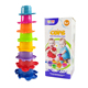 Bath tub stacking cups kids baby shower bath time toy