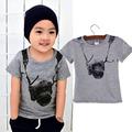 Summer Cotton baby t shirts Boy Kids Camera Short Sleeve Cartoon Tops Children O neck T