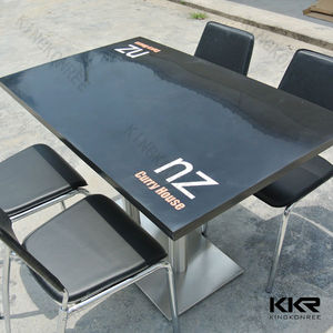 High quality black factory canteen table and chair