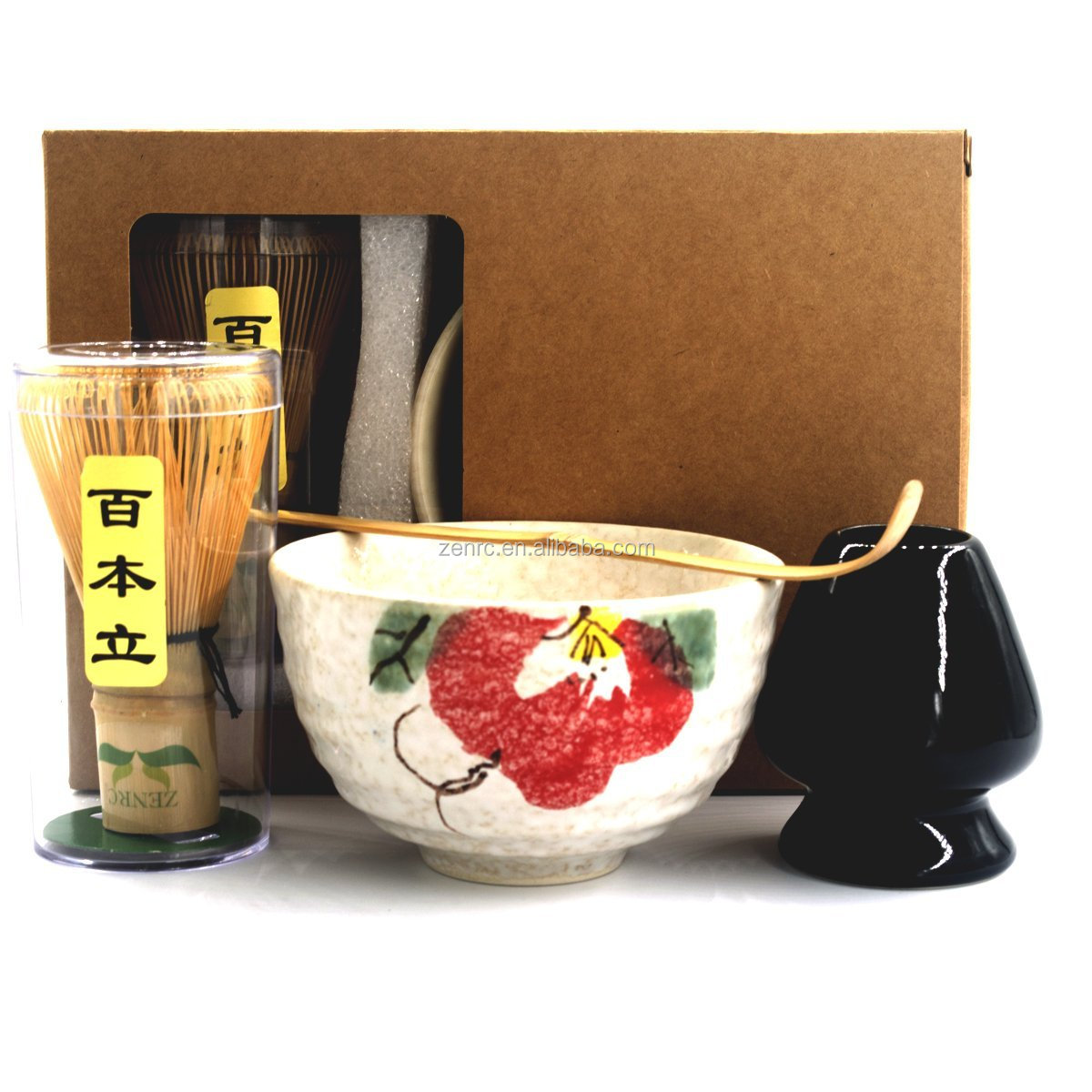 Pack of 5 Starter Kit of Matcha Bowl and Whisk Set with Gift Box