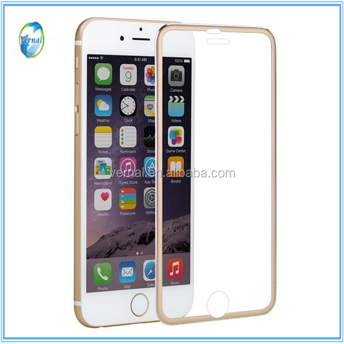 New Style Full Cover Colorful with Frame Tempered Glass Screen Protector for <strong>iphone</strong> 6/6 plus/7/7 Plus/8/<strong>4g</strong>