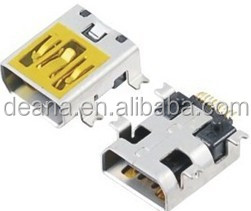 Mini 10Pin USB with Post SMT