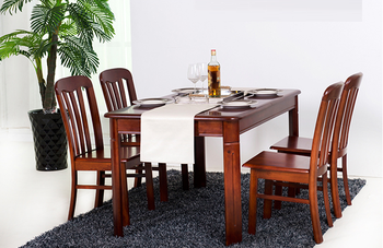 Modern Simple Dining Table Set Solid Wood And Chair