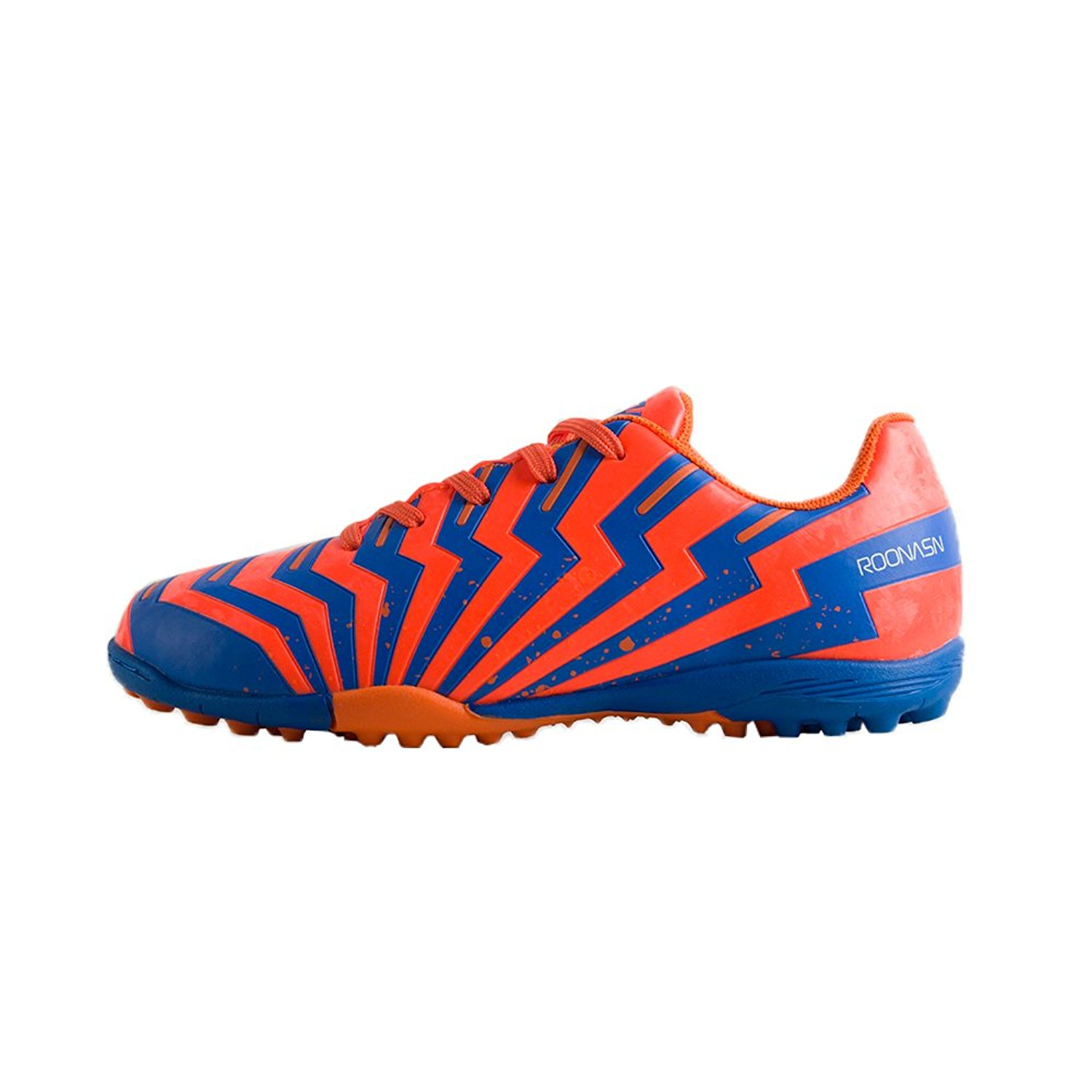 75e72436a Get Quotations · ROONASN Kids  Outdoor Indoor Soccer Shoes Athletic Soccer  Cleats Football Boots Shoes(Little