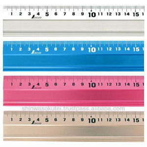 Aluminum Cutting Ruler with non-slip sheet and finger-protecting wall / 15-100cm / 4 colors / for cutting with utility knife