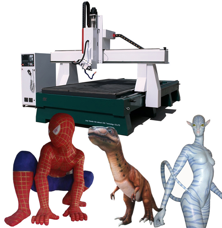 multifunctionele 4 as schuim snij 3d CNC-machines/cnc router voor eps schuim 3d mal sculptuur