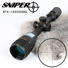 Tactical Optics Hunting Riflescope Sniper NT 4-16x50 AOGL RGB illuminated Adjustable Objective Rifle Scopes